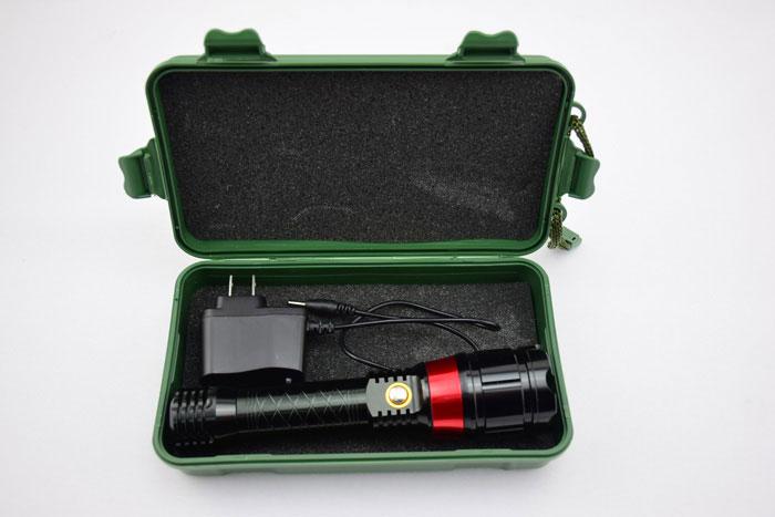 LEDライト付き 赤レーザーポインター