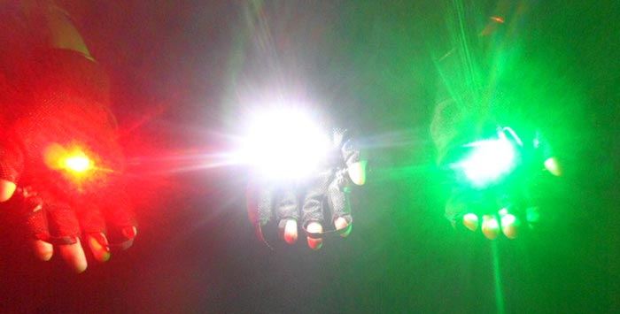 演出用手袋レーザー