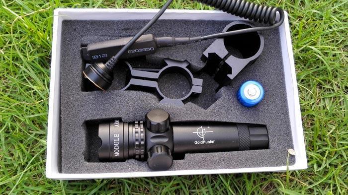 レーザーサイト、銃に付けるレザー光線