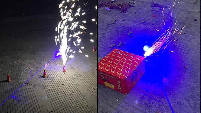 レーザーポインターブルー 防水 瞬間焼跡
