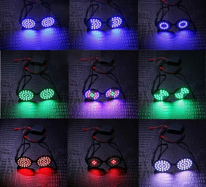 LED ネオン サングラス